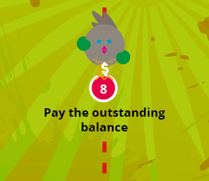 Pay the outstanding balance