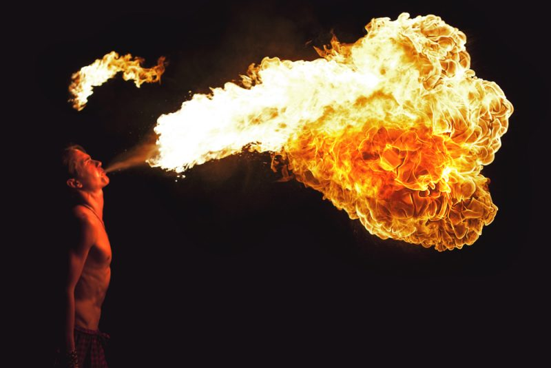 Fire Performer party