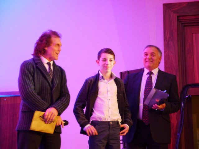 Sam Griffiths receiving his Award