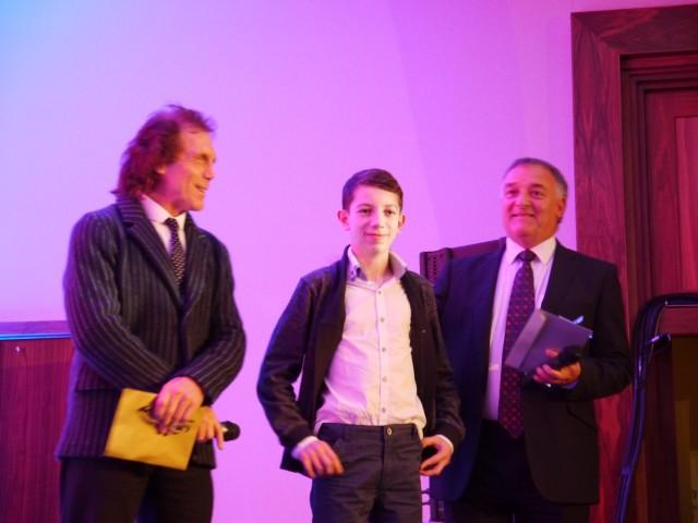 Sam Griffiths receiving his Award