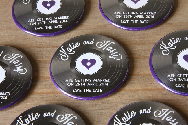 1950s Vinyl Save the Date Magnet