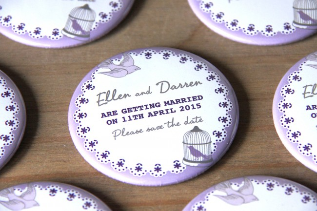 Birdcage Save The Date Magnets
