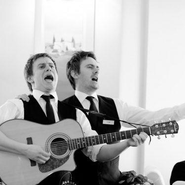 Singing waiters proposal