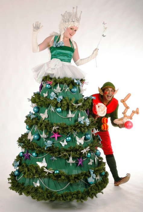 Unique Christmas Costume Ideas. Stilt Walking Christmas Tree