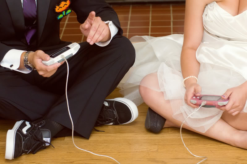 Techno geek bride and groom personality