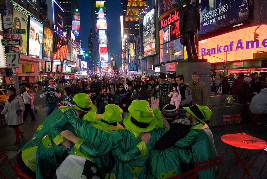 St Patricks Day Celebrations In Times Square