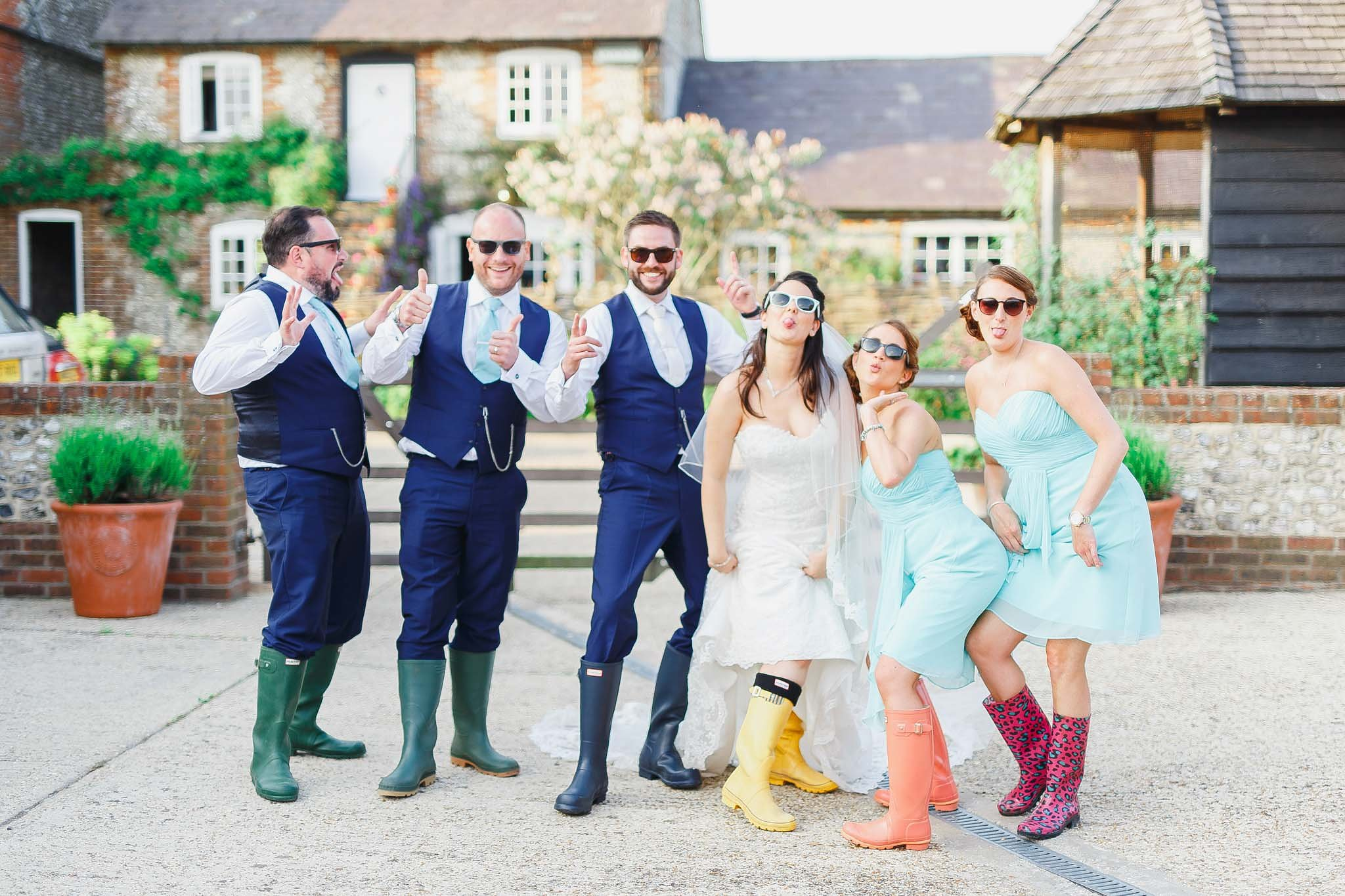 Real wedding at Upwaltham Barns
