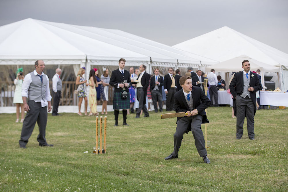Real Wedding Fun Cricket Marquee Farm Wedding