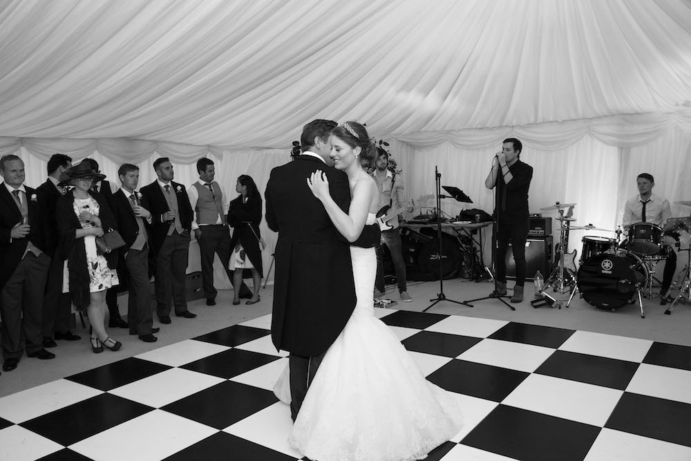 First Dance Black & White Dance floor