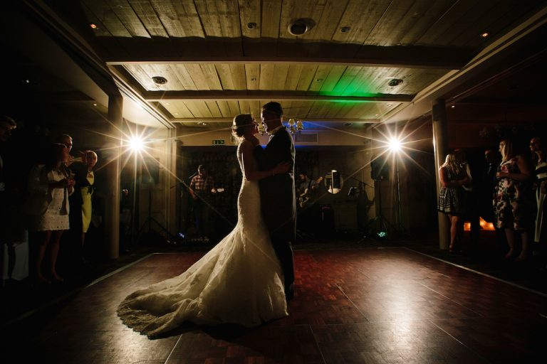 The Kickstarts Wedding band Real Wedding Blog First Dance At Stanley House
