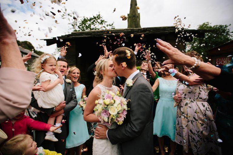 The Kickstarts Real Wedding Blog With Confetti and Kiss