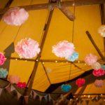 Tipi Wedding With Pom Poms