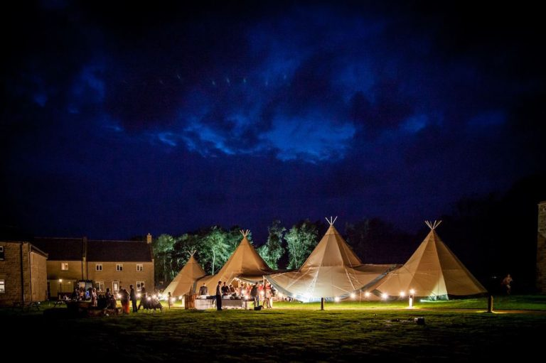 Tipi Wedding Evening Wedding Photography