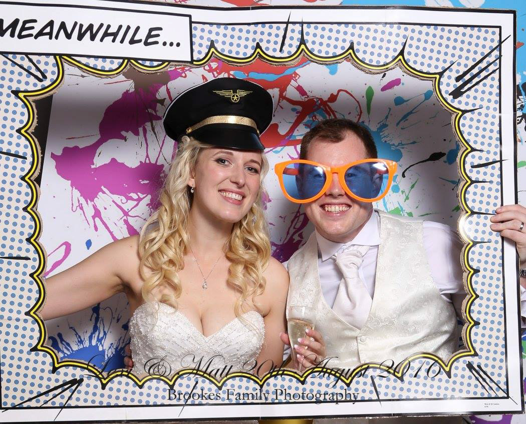 Real Wedding Blog Photobooth Bride and Groom
