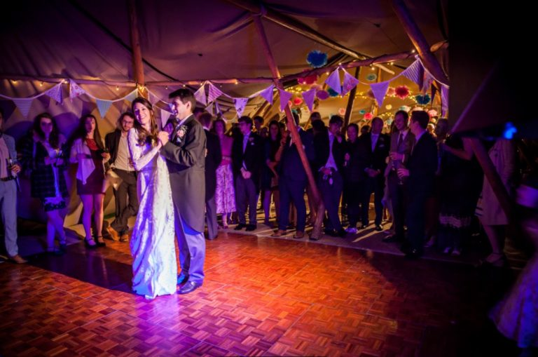 Warble Wedding First Dance With Live Band And Tipi Wedding