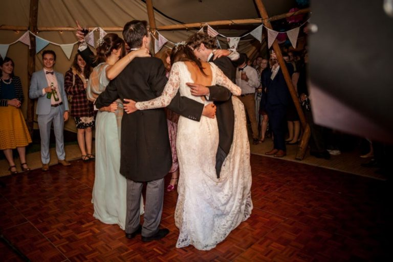 Real Wedding First Dance Tipi Wedding With Live Band
