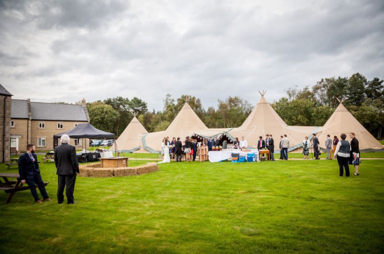 Real Wedding With Tipi