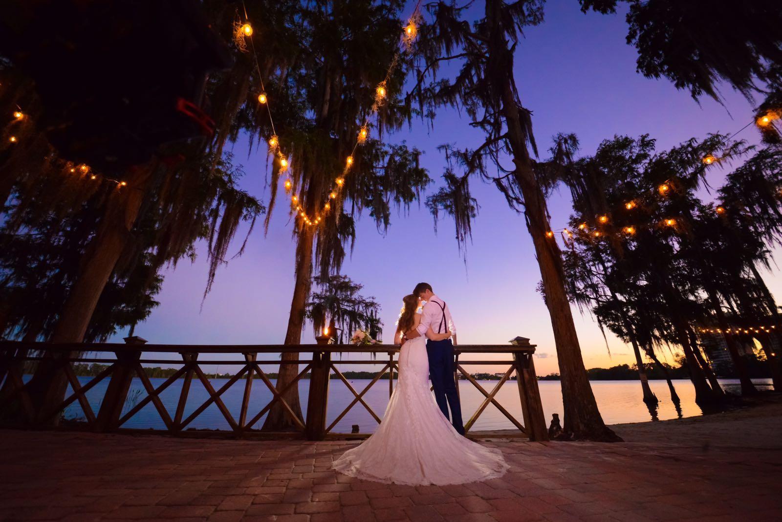 Florida Beach Wedding Evening Lighting