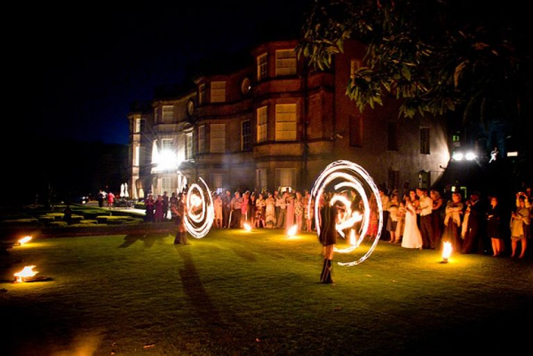 fire performance wedding venue