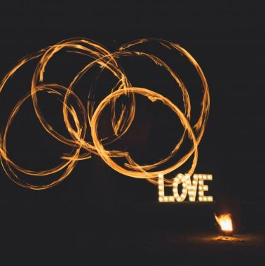 wedding LOVE fire performers