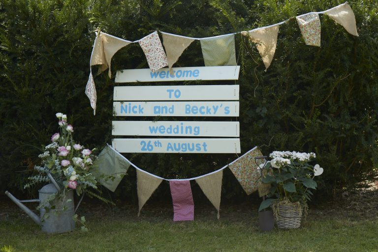Wedding Sign Country Theme