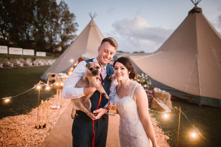 Bride Groom Dog
