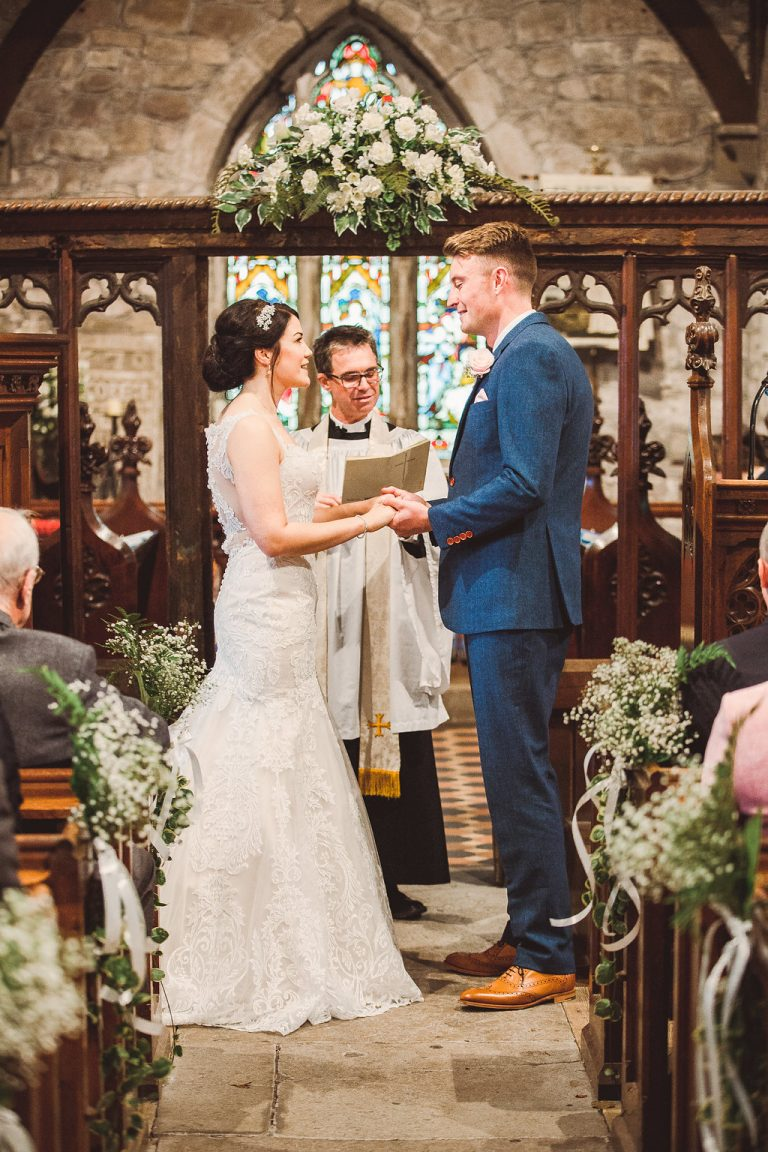 Bride and Groom in the Church