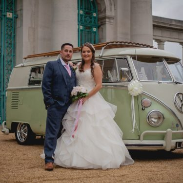 Bride and Groom Wedding Car