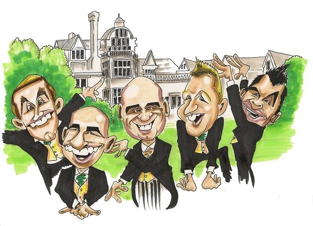 Caricature of Groomsmen