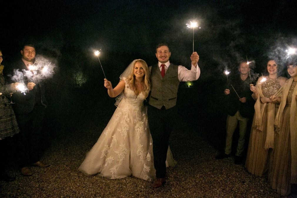 Leanne And Tom S Bonfire Night Wedding With The In