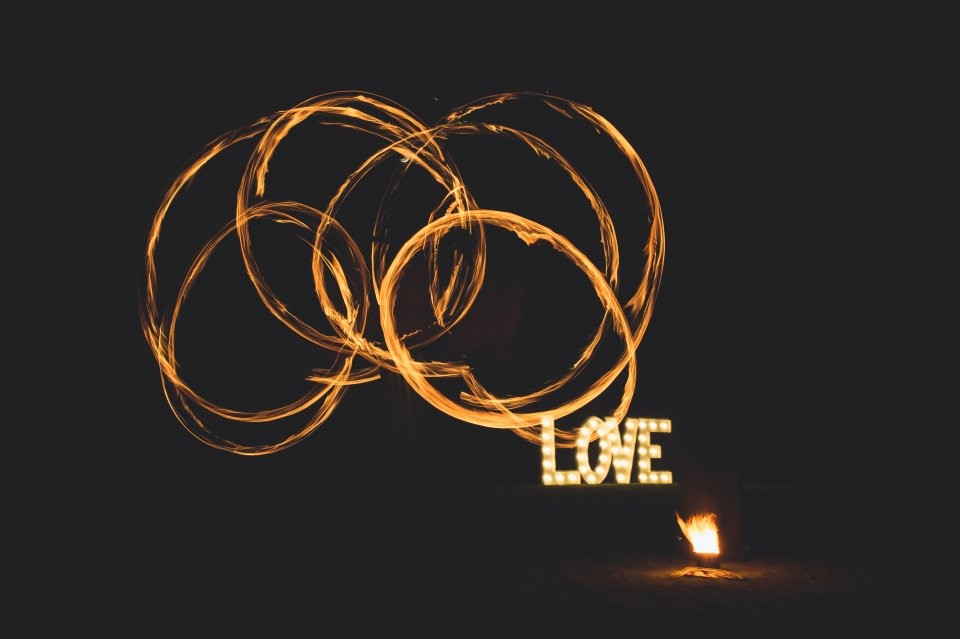 wedding fire performer