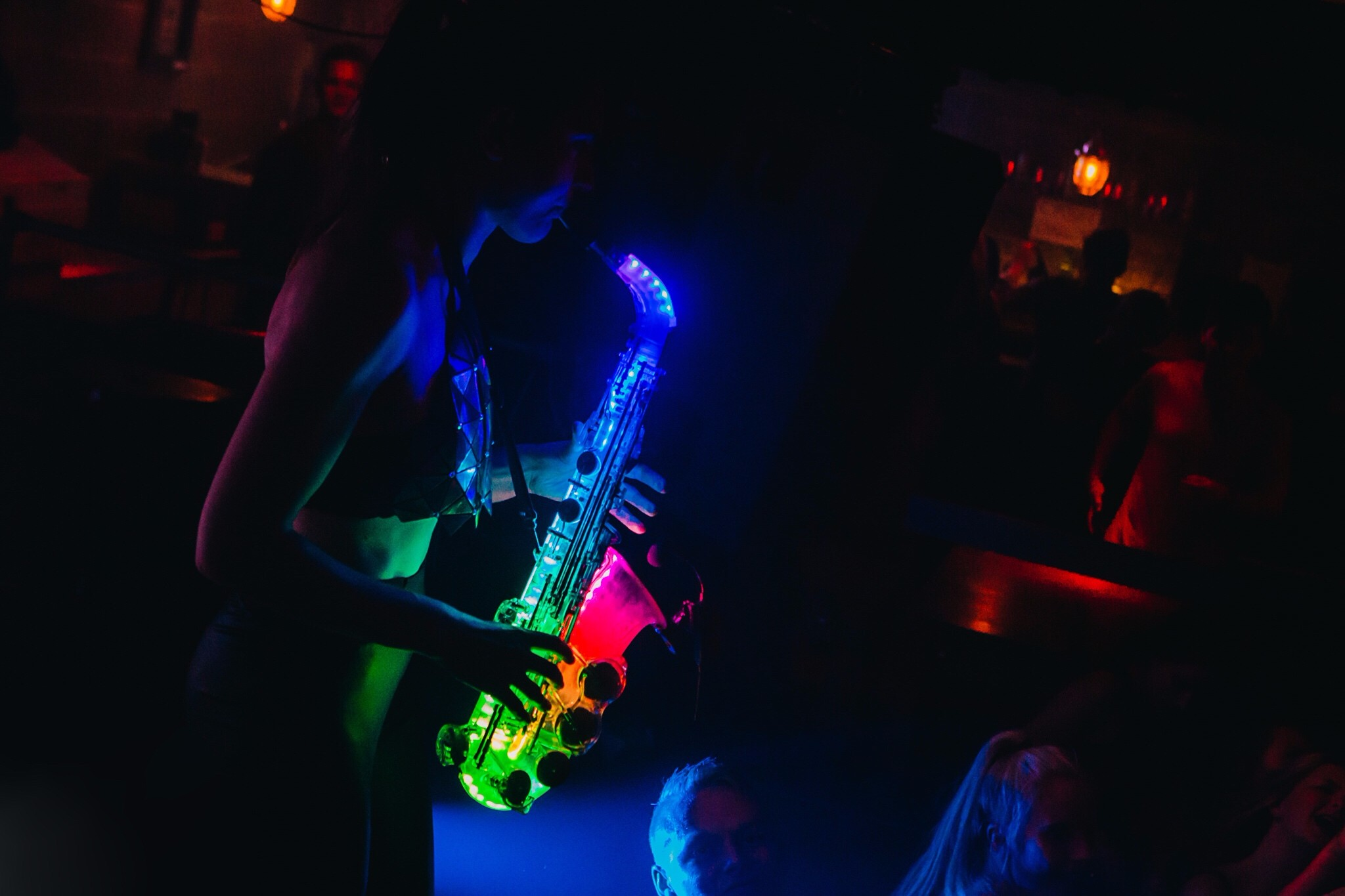 LED Saxophone Players For Weddings