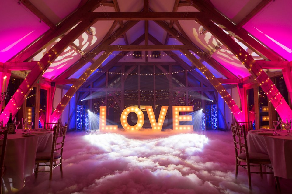 Wedding DJ Light Up Love Letters