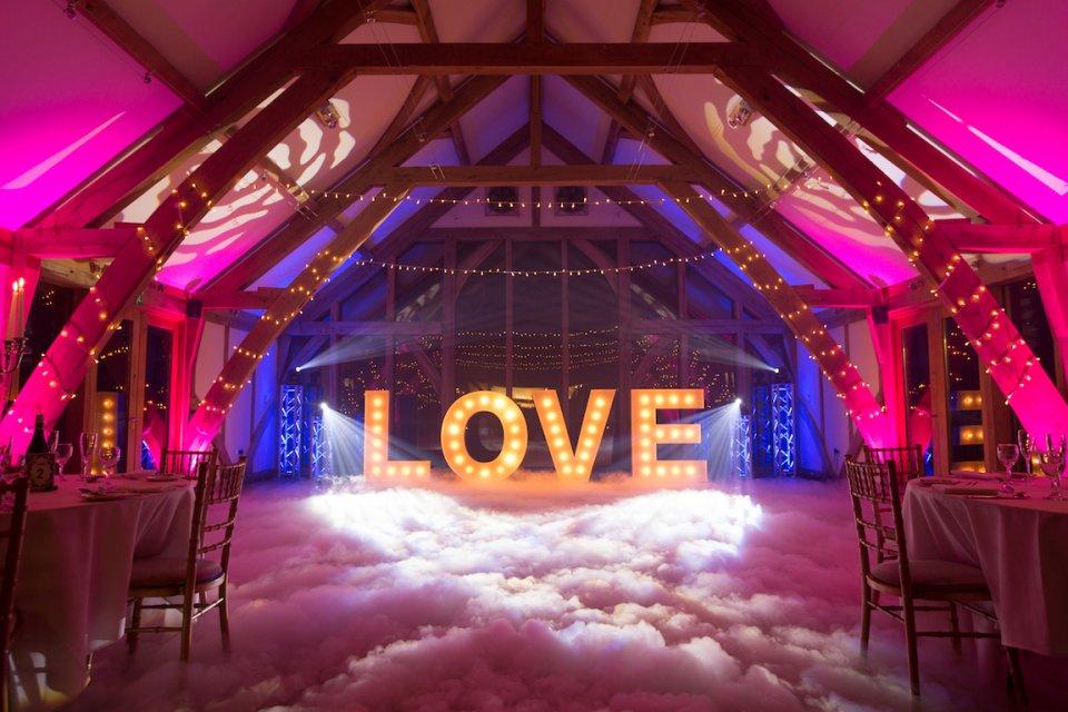 Wedding DJ Light Up Love Letters