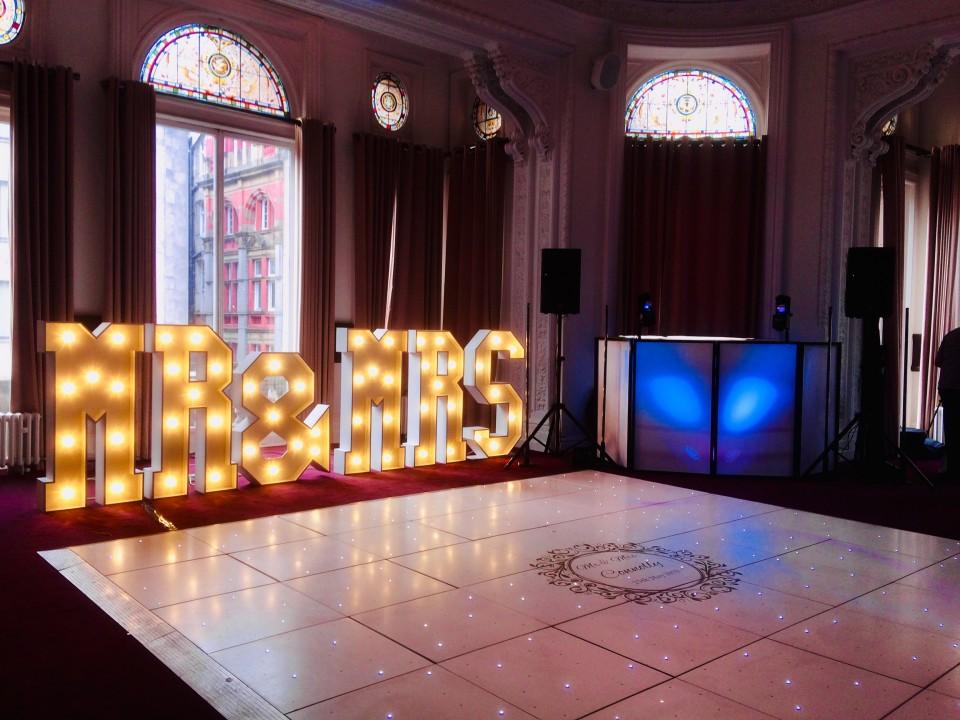 Wedding DJ Set Up Lights
