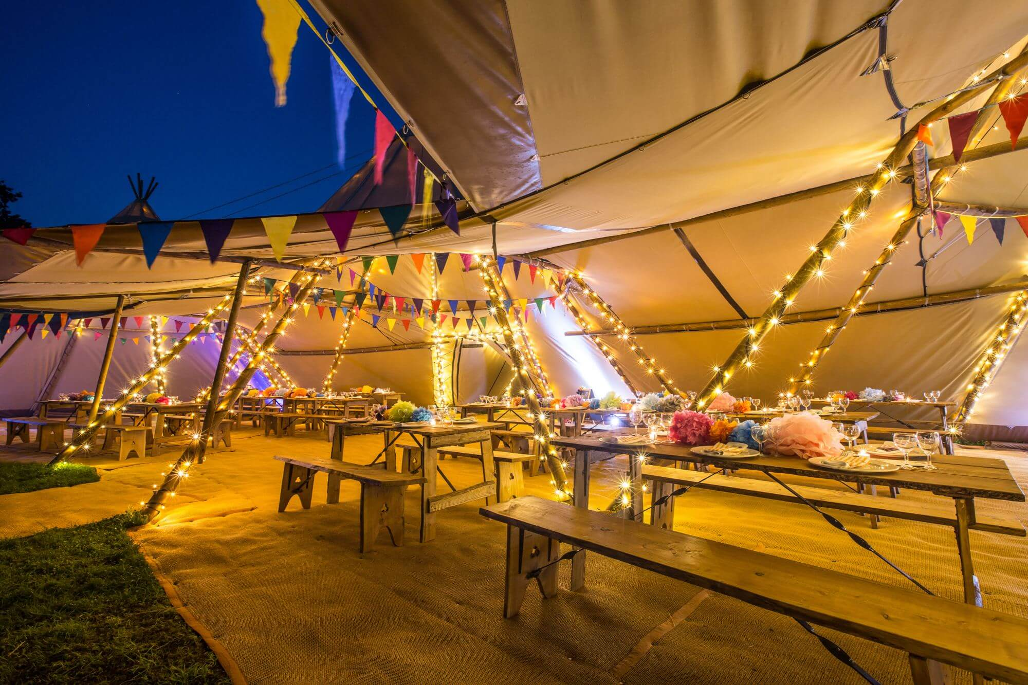 wedding tipi lights