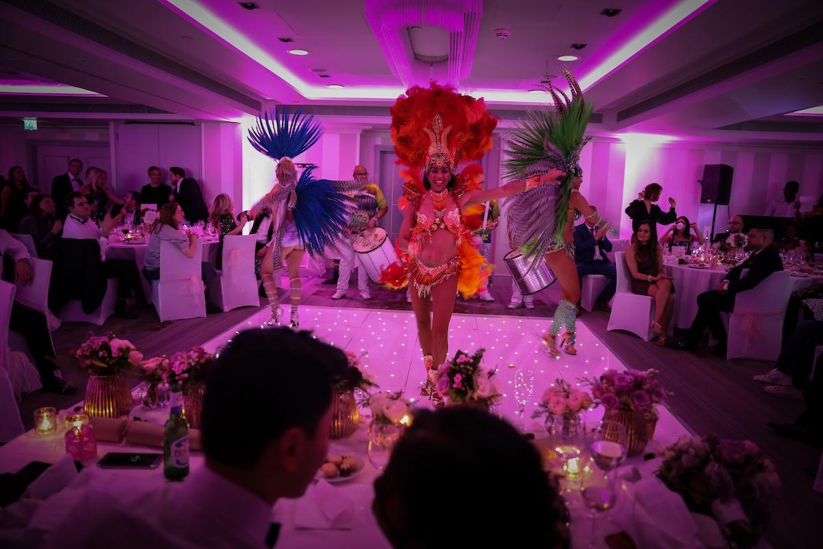 Surprise Brazilian Dancers at San & Maria's Winter Wedding