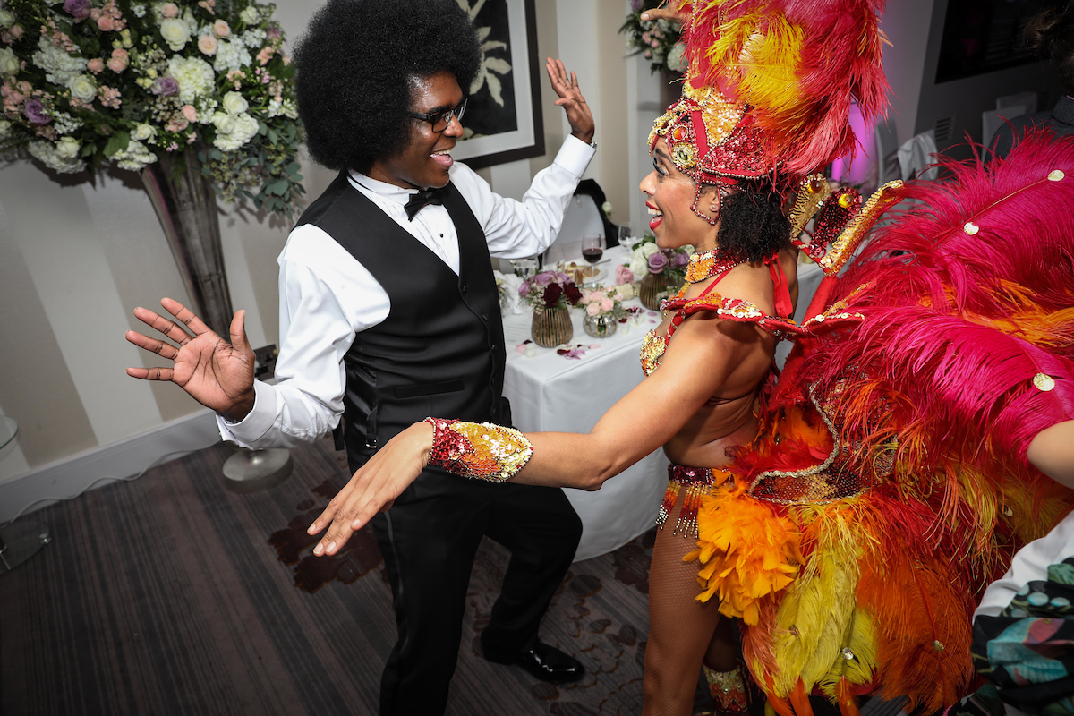Surprise Brazilian Dancers at San & Maria's Winter Wedding