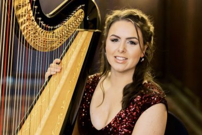north west wedding harpist