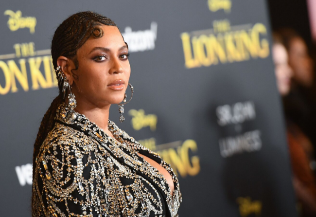 Beyonce Headshot Movie Premier