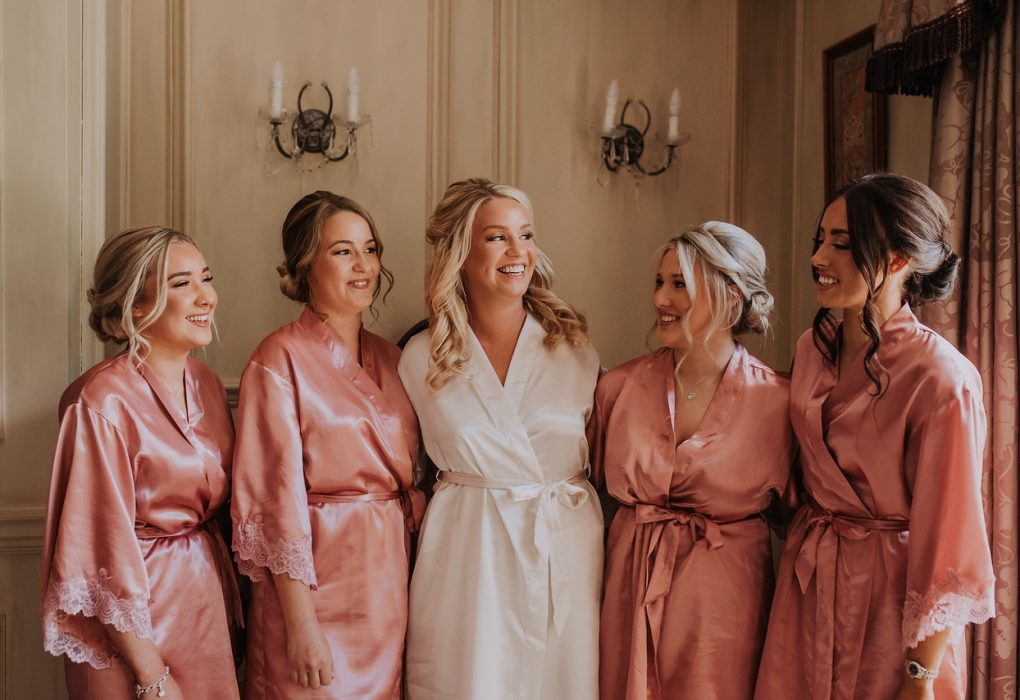 bride and her guests